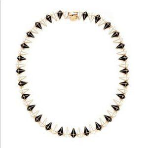 Noir for L.A.M.B spike necklace black white